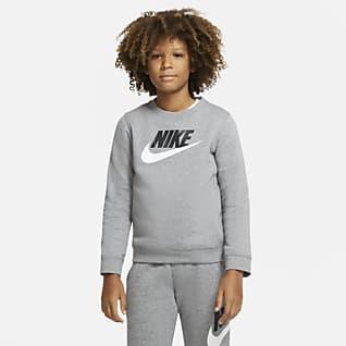 Nike Sportswear Club Fleece Kerek nyakkivágású pulóver nagyobb gyerekeknek (fiúk)
