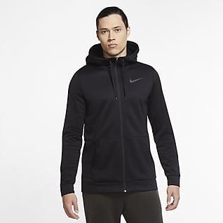 Nike Therma Ανδρική μπλούζα προπόνησης με κουκούλα και φερμουάρ σε όλο το μήκος