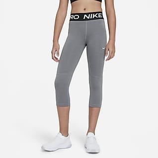 Nike Pro Leggings capri para niña talla grande