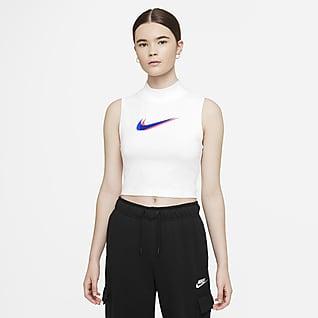 Nike Sportswear Damska koszulka bez rękawów z półgolfem