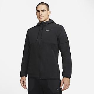 Nike Therma-FIT Felpa con cappuccio da training per l'inverno con zip a tutta lunghezza - Uomo