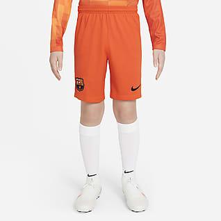 FC Barcelona 2021/22 Stadium Goalkeeper Fotbollsshorts för ungdom