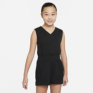Nike Dri-FIT Older Kids' (Girls') Training Romper