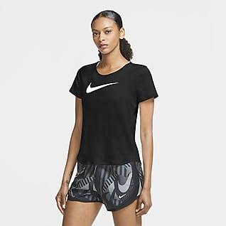 Nike Swoosh Run Kurzarm-Laufoberteil für Damen