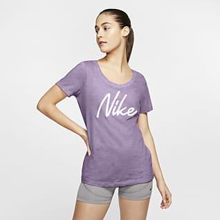 Nike Dri-FIT Playera de entrenamiento con logotipo para mujer