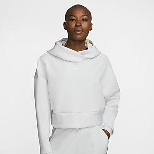 Nike Pro Pullover-hættetrøje i fleece til kvinder