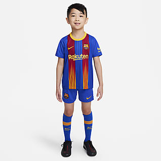 FC Barcelona 2020/21 Fotballdraktsett til små barn