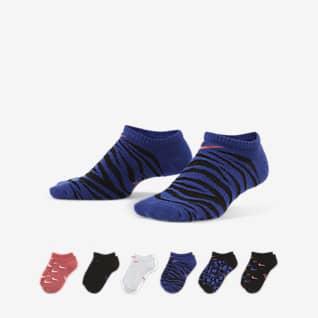 Nike Everyday Calcetines ligeros invisibles para niño (talla grande) (6 pares)