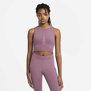 Nike Pro Женская майка с вшитым бра