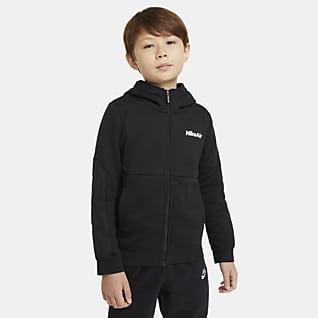 Nike Air Sudadera con capucha de cierre completo para niño talla grande