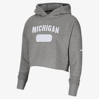 Nike College (Michigan) Women's Crop Hoodie