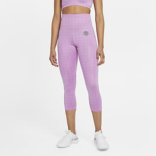 Nike Epic Fast Femme 3/4-Lauf-Leggings mit halbhohem Bund für Damen