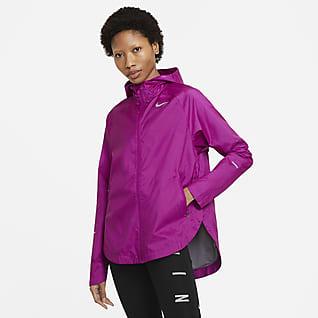 Nike Essential Run Division Løpejakke til dame med hel glidelås