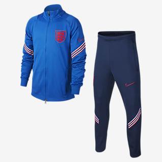 England Strike Футбольный трикотажный костюм для школьников