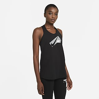 Nike Dri-FIT Elastika Mønstret treningssinglet til dame