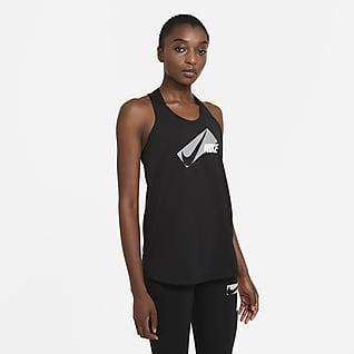 Nike Dri-FIT Elastika Trainings-Tanktop mit Grafik für Damen