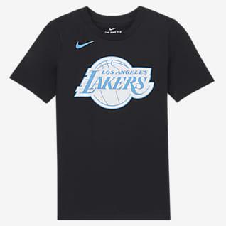 Los Angeles Lakers City Edition T-shirt Nike NBA Logo - Ragazzi