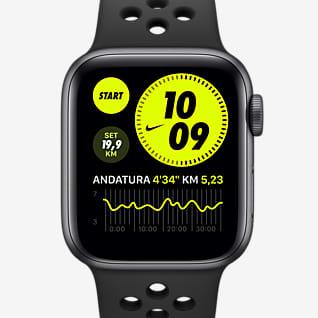 Apple Watch Nike Series 6 (GPS) con Nike Sport Band Cassa in alluminio grigio siderale - 40 mm
