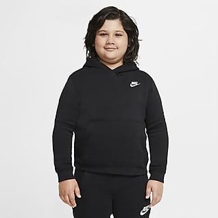 Nike Sportswear Club Fleece Huvtröja för ungdom (killar) (utökade storlekar)