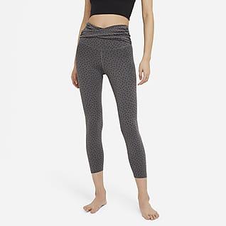 Nike Yoga Women's High-Waisted 7/8 Dotted Leggings