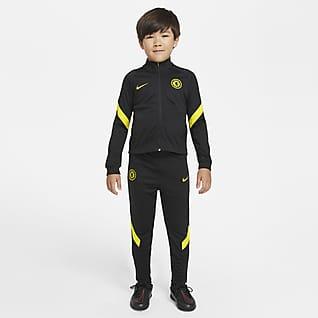 Chelsea FC Strike Nike Dri-FIT fotballtracksuit til små barn