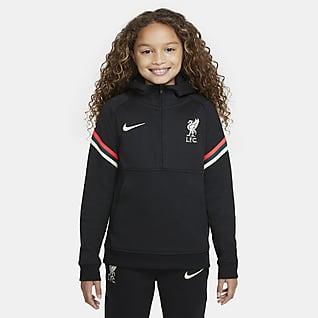 Liverpool FC Hoodie de futebol Nike Dri-FIT Júnior