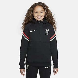 Liverpool FC Piłkarska bluza z kapturem dla dużych dzieci Nike Dri-FIT