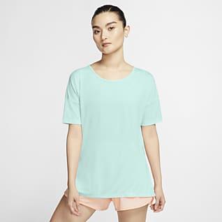Nike Yoga Haut à manches courtes pour Femme