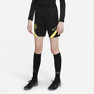Τσέλσι Strike Ποδοσφαιρικό σορτς Nike Dri-FIT για μεγάλα παιδιά