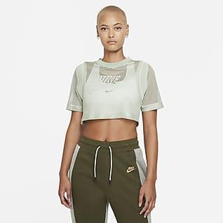 Serena Design Crew Women's Short-Sleeve Tennis Crop Top