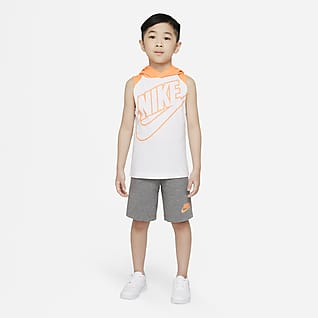 Nike Conjunto de camiseta de tirantes y shorts para niños talla pequeña