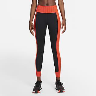 Nike Dri-FIT One Luxe Icon Clash Leggings i 7/8-längd med mellanhög midja för kvinnor