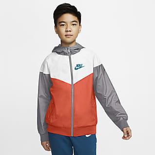 Nike Sportswear Windrunner Jakke til større børn (drenge)