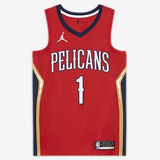 New Orleans Pelicans Pelicans Statement Edition 2020 Jordan NBA Swingman-trøje