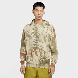 Nike Sportswear Batikfarvet pullover-hættetrøje