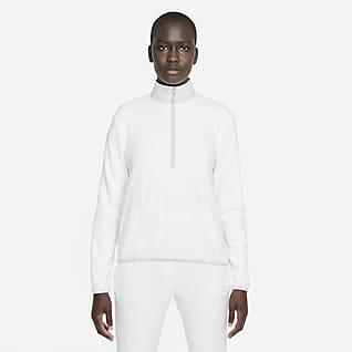 Nike Therma-FIT Victory Женская футболка для гольфа с длинным рукавом и молнией на половину длины