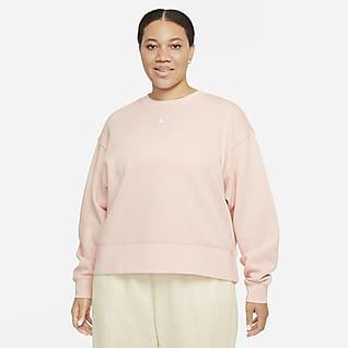 Nike Sportswear Collection Essentials Bol Kesimli Fleece Kadın Crew Üstü (Büyük Beden)