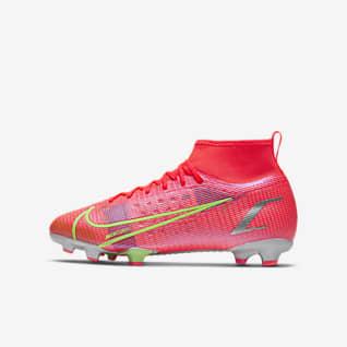 Nike Mercurial Superfly 8 Pro FG Chaussure de football à crampons pour terrain sec pour Jeune enfant/Enfant plus âgé