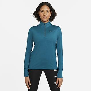 Nike Element Top de running de medio cierre para mujer