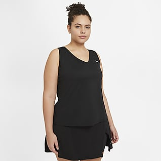 NikeCourt Victory Camiseta de tirantes de tenis para mujer talla grande