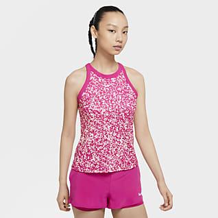 NikeCourt Dri-FIT Tennistanktop med print til kvinder