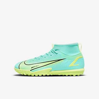 Nike Jr. Mercurial Superfly 8 Academy TF Fotbollssko för grus/turf för barn och ungdom