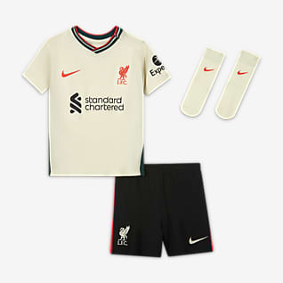 Liverpool FC de visitante 2021/22 Kit de futbol para bebé e infantil