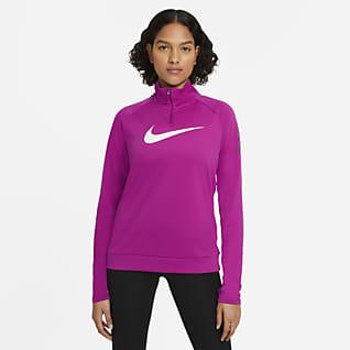 Nike Swoosh Run Top de running de medio cierre para mujer