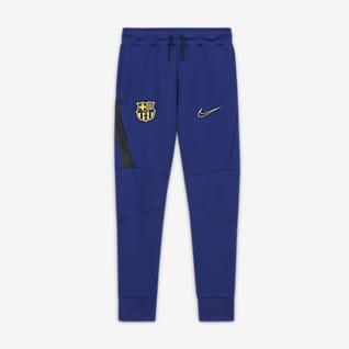 FC Barcelona Pantalon en tissu Fleece pour Enfant plus âgé