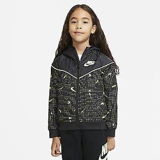 Nike Sportswear Windrunner Chamarra de cierre completo para niños talla pequeña
