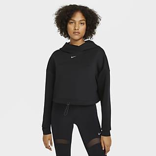 Nike Pro Γυναικεία μπλούζα με κουκούλα