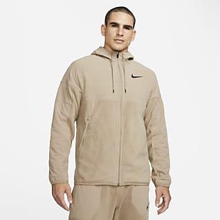 Nike Therma-FIT Träningshuvtröja för vinterbruk med fullängds dragkedja för män
