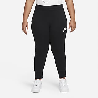 Nike Sportswear Club Big Kids' (Girls') French Terry Fitted Pants (Extended Size)