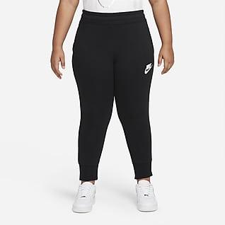 Nike Sportswear Club Nauwsluitende meisjesbroek van sweatstof (grotere maten)